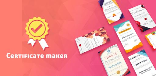 Certificate card maker: Templates and Design idea apk