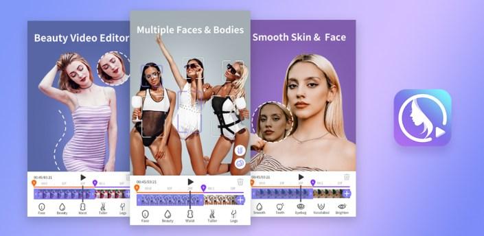 PrettyUp- Video Face & Body Editor & Selfie Camera apk