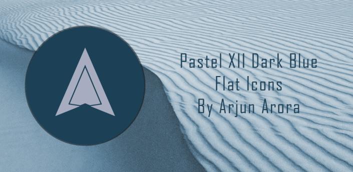 Pastel XII Dark Blue Flat Icons apk