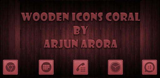 Wooden Icons Coral apk
