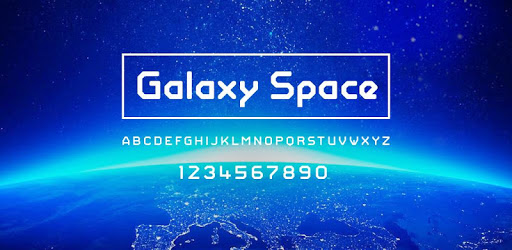 Galaxy Space Font Samsung FlipFont,Cool Fonts Free apk