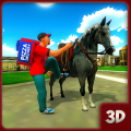 Pizza Horse Delivery Boy:Bakery Delivery games Icon