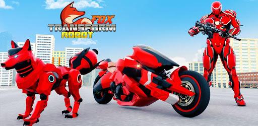 Wild Fox Transform Bike Robot Shooting: Robot Game apk