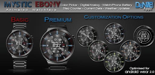 Mystic Ebony HD Watch Face Widget & Live Wallpaper apk
