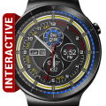 Chrono Flat HD Watch Face Widget & Live Wallpaper Icon