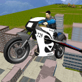 Flying Police Bike Simulator Icon