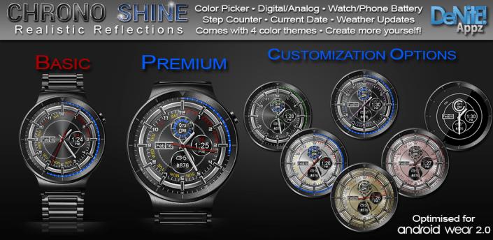 Chrono Shine HD Watch Face Widget & Live Wallpaper apk