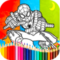 Coloring spiderman Games Icon