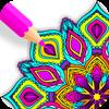 Zen Mandala Coloring Book Icon