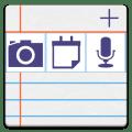 notePad Photos,Sounds,Sync Icon