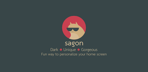 Sagon Icon Pack: Dark UI apk
