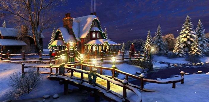 Christmas Winter Snow Night Live Wallpaper apk
