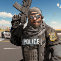 Virtual Police Officer Crime City- Gangster Games Icon