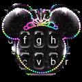 Silver Glitter Minny Keyboard Theme Icon