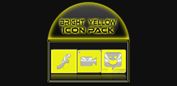 Bright Yellow Icon Pack Free apk