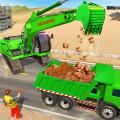Sand Excavator Truck Driving Crane Simulator Games Icon