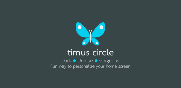 Timus Circle Dark Icon Pack apk
