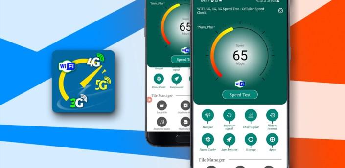 WiFi, 5G, 4G, 3G Speed Test - Cellular Speed Check apk