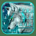 Cyan Neon Wolf Keyboard Theme Icon