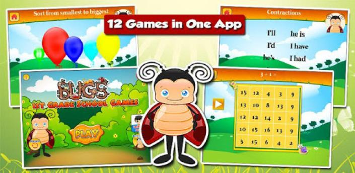 Grade 1 Learning Games: Bugs apk