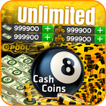 Coins and Cash for 8 ball Pool Prank Icon
