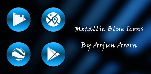 Metallic Blue Icons By Arjun Arora apk