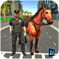 mounted horse police chase 3d Icon