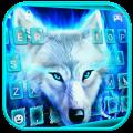 Blue Night Wolf Keyboard Theme Icon