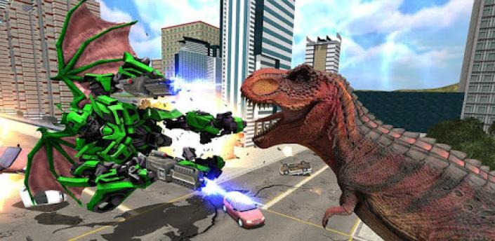 Dragon Robot Transform Game - Dinosaur World Fight apk