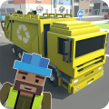 Mr. Blocky Garbage Man SIM Icon