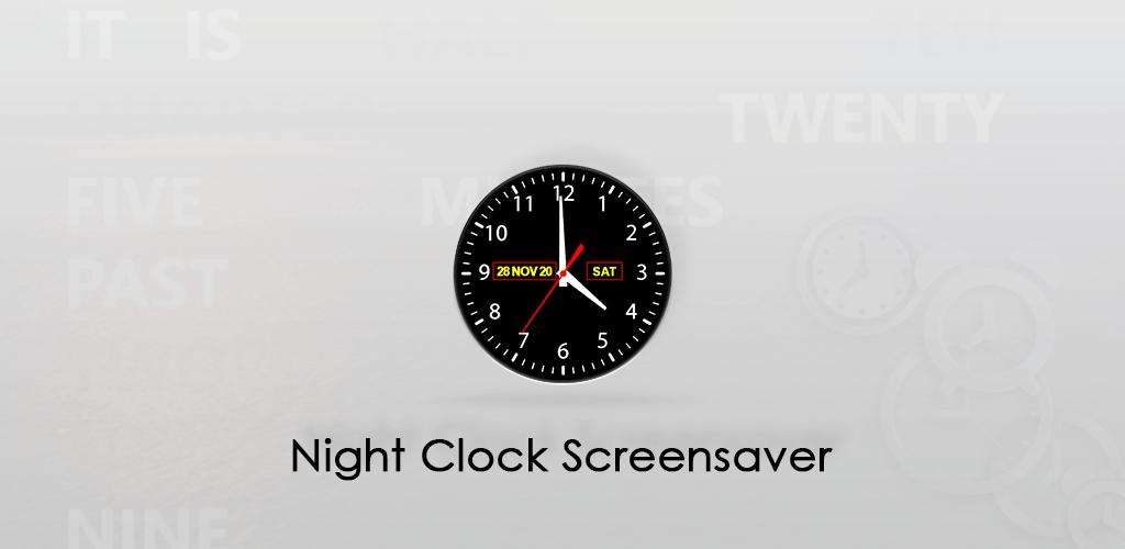 Night clock Screensaver apk