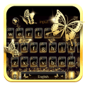 Luxury Gold Butterfly Keyboard Theme Icon