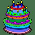 Cake coloring book Icon