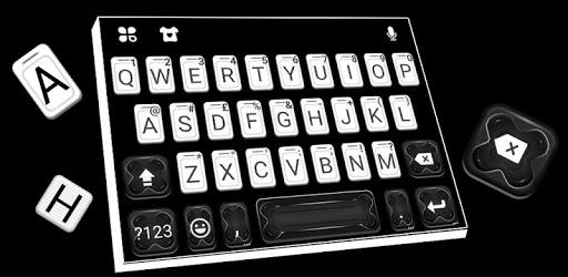White Black Business Keyboard Theme apk