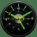 GAMMA Designer Clock Widget black glow green Icon