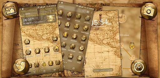 Ancient Map Launcher Theme apk