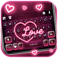 Neon Pink Love Keyboard Theme Icon