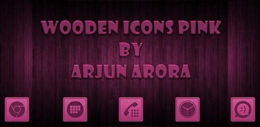Wooden Icons Pink apk