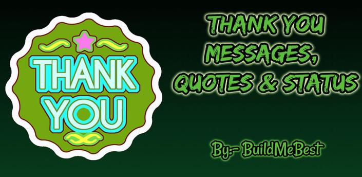 Thank You Messages in English, Best Quotes & Cards apk