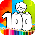 Coloring 100 Days Of School Games Icon
