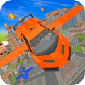 Futuristic Real Flying Car 3D Icon