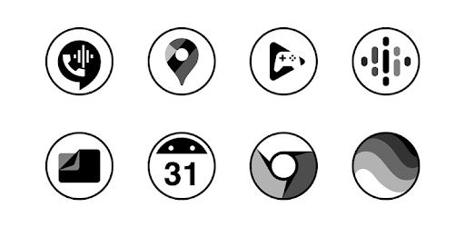 Monoic Black   Dark, Monotone, Minimalistic icons apk