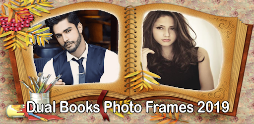 Dual Open Book Photo Frames – Photo on Book Page apk