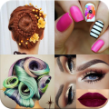 Makeup, Hairstyles, Nails Icon
