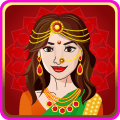 Indian Bride Makeover Dress Up Icon