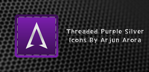Threaded Silver Purple Icons apk