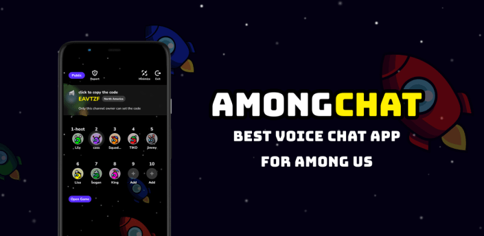 AmongChat - Voice Chat for Among Us Friends apk