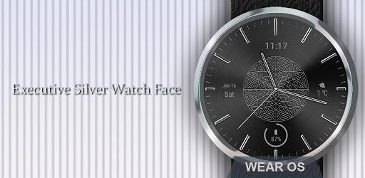 Watch Face: Silver Metal - Wear OS Smartwatch apk