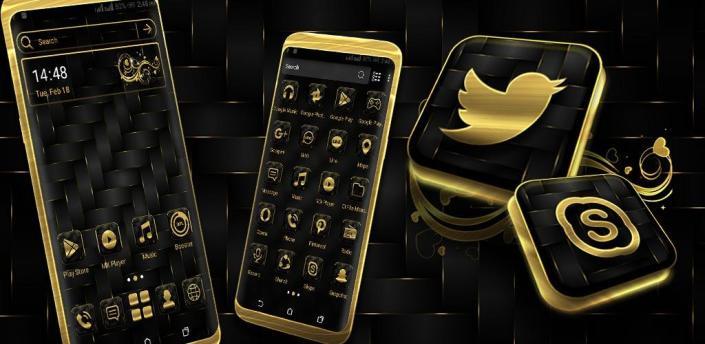 Gold Black Launcher Theme apk