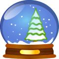 Christmas Stickers Doodle Text Icon